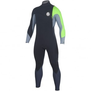 Rip Curl Flash Bomb 3/2 Zip Free Wetsuit - Lemon