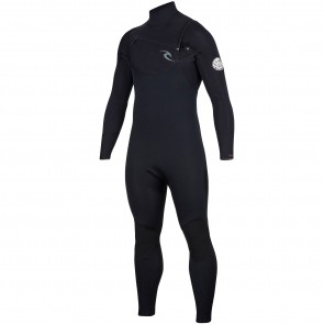 Rip Curl Dawn Patrol 3/2 Chest Zip Wetsuit  - Black