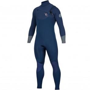 Rip Curl Dawn Patrol 3/2 Chest Zip Wetsuit - Navy