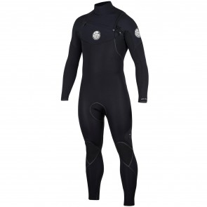 Rip Curl E-Bomb 4/3 Chest Zip Wetsuit - Black