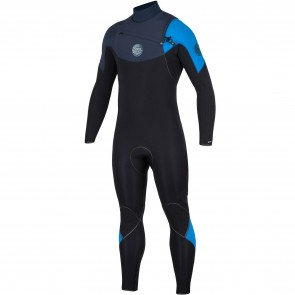Rip Curl E-Bomb 4/3 Chest Zip Wetsuit - Blue