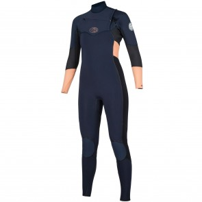 Rip Curl Women's Flash Bomb 4/3 Chest Zip Wetsuit - Peach