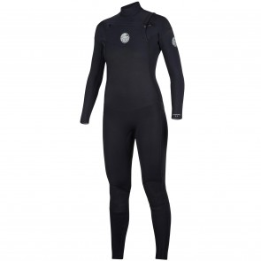 Rip Curl Women's Dawn Patrol 3/2 Chest Zip Wetsuit - Black