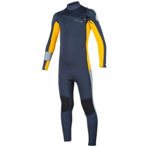 Rip Curl Youth Aggrolite 4/3 Chest Zip Wetsuit - Slate