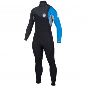 Rip Curl Flash Bomb 3/2 Zip Free Wetsuit - Blue