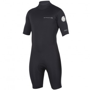 Rip Curl Aggrolite 2mm Short Sleeve Back Zip Spring Suit - Black