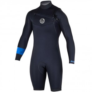 Rip Curl Aggrolite Long Sleeve Chest Zip Spring Suit - Black
