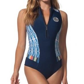 Rip Curl Women's G-Bomb 1mm Cap Sleeve Spring Wetsuit - Blue