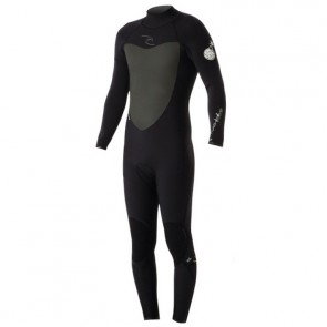 Rip Curl Flash Bomb 3/2 Back Zip Wetsuit - Black