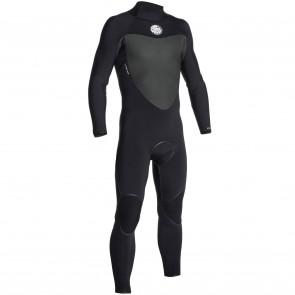 Rip Curl Flash Bomb 4/3 Back Zip Wetsuit - Black