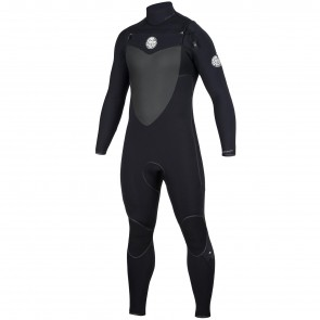Rip Curl Flash Bomb 4/3 Chest Zip Wetsuit - Black
