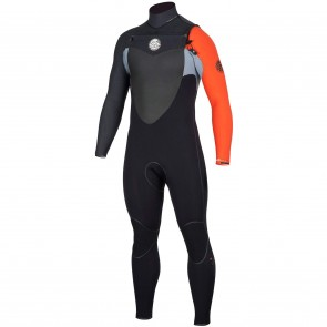 Rip Curl Flash Bomb 3/2 Chest Zip Wetsuit - Orange