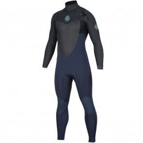 Rip Curl Flash Bomb 4/3 Chest Zip Wetsuit - Slate