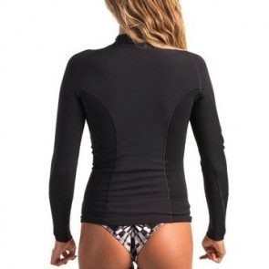 Rip Curl Wetsuits Women's G-Bomb 1mm Chest Zip Long Sleeve Jacket - Black