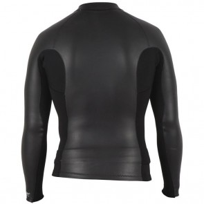 Rip Curl Aggrolite 1.5mm Front Zip Long Sleeve Jacket - Black