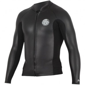 Rip Curl Aggrolite 1.5mm Chest Zip Long Sleeve Jacket - Black