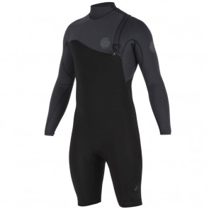 Rip Curl E-Bomb Pro 2mm Long Sleeve Zip Free Spring Wetsuit - Black