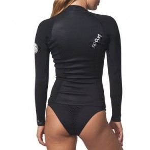 Rip Curl Wetsuits Women's Dawn Patrol 2mm Chest Zip Long Sleeve Jacket - Black