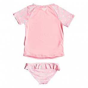 Roxy Toddler Girls Splash Party Rash Guard Set - Geranium Pink