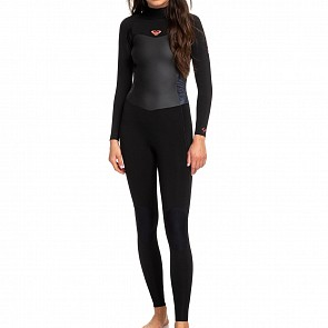 Roxy Women's Syncro 5/4/3 Back Zip Wetsuit - Black/Gun Metal