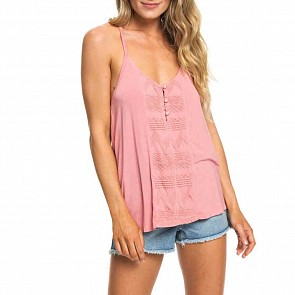 Roxy Women's Crazy Memories Tank - Brandied Apricot