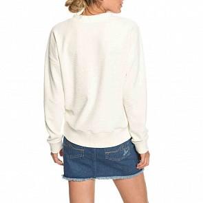 Roxy Women's Lucky Sunshine Sweatshirt - Marshmallow
