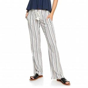 Roxy Women's Oceanside Beach Pants - Marshmallow Stripes