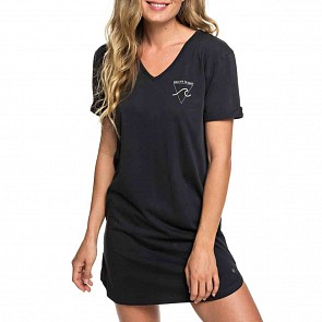 Roxy Women's Pacific Groove T-Shirt Dress - Anthracite