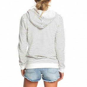 Roxy Women's Trippin Stripes Zip Hoody - Anthracite Pool Stripes