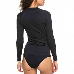 Roxy Women's Whole Hearted Long Sleeve Rash Guard - Anthracite