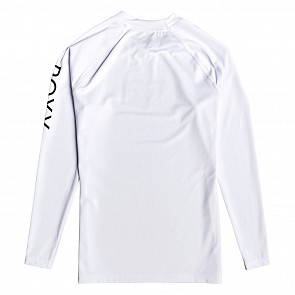 Roxy Women's Whole Hearted Long Sleeve Rash Guard - White