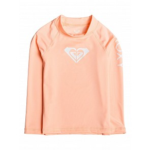 Roxy Youth Girls 2-6 Whole Hearted Long Sleeve Rash Guard - Souffle