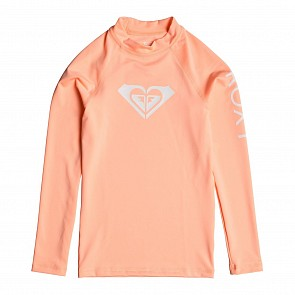 Roxy Youth Girls Whole Hearted Long Sleeve Rash Guard - Souffle
