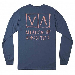 RVCA Horton Box Long Sleeve T-Shirt - Seattle Blue