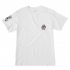 RVCA Pick Your Battles T-Shirt - White