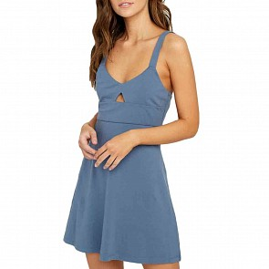 RVCA Women's All Talk Dress - Blue Tide