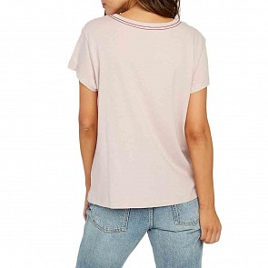 RVCA Women's Angler Pocket T-Shirt - Dusty Blush
