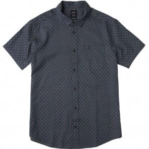RVCA D2 Printed Short Sleeve Shirt - Classic Indigo