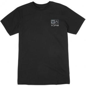 RVCA Flipped Box Embroidery T-Shirt - Black