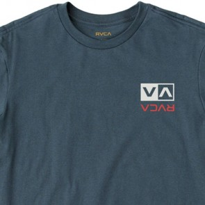 RVCA Flipped Box Embroidery T-Shirt - Federal Blue