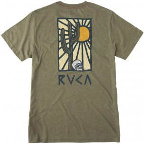 RVCA Cactus Rays T-Shirt - Burnt Olive
