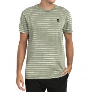 RVCA Washout Striped T-Shirt - Fatigue