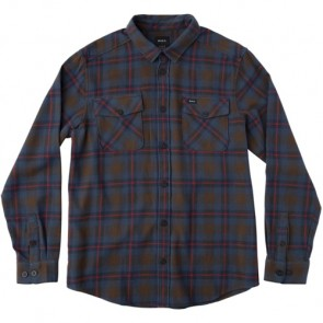 RVCA That'll Work Long Sleeve Flannel - Chocolate