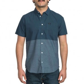RVCA Big Block Short Sleeve Shirt - Dark Denim