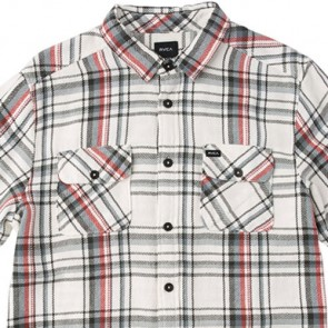 RVCA Camino Long Sleeve Flannel - Silver Bleach