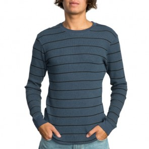 RVCA Neutral Striped Thermal Long Sleeve Top - Indigo