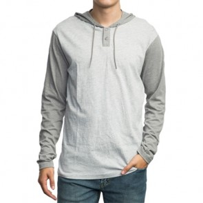 RVCA Pick Up Long Sleeve Hooded Top - Athletic Heather