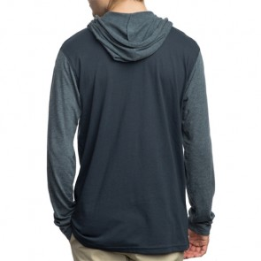 RVCA Pick Up Long Sleeve Hooded Top - Federal Blue