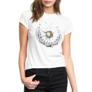 RVCA Women's Del Fitted T-Shirt - Silver Bleach