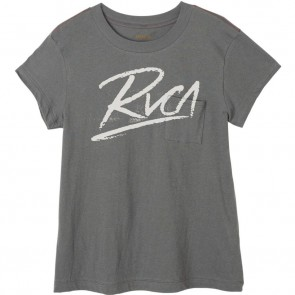 RVCA Women's Scribe T-Shirt - Greyskull